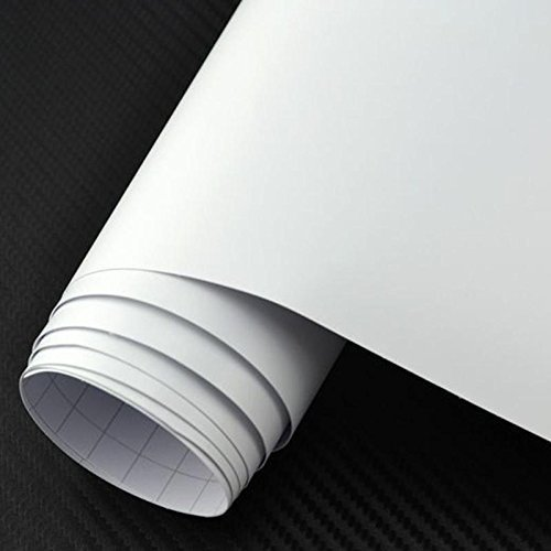 12″ x 10 Ft Roll of Matte White Permanent Adhesive-Backed Vinyl for Craft Cutters, Punches, Make Monograms Stickers, Silhouette and Vinyl Sign Cutters by LeoPro