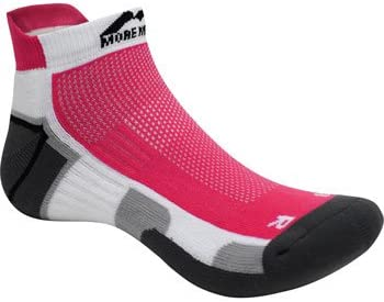 More Mile Bamboo Comfort Running Socks Red Cushioned Sports Trainer Sock