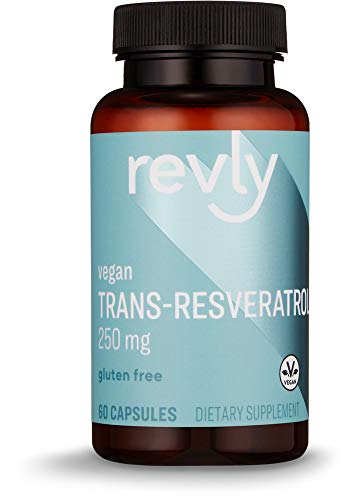 Amazon Brand – Revly Trans-Resveratrol, 250 mg, 60 Capsules, 2 Month Supply, Vegan