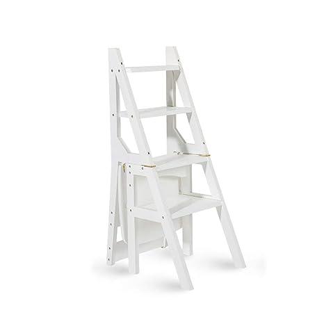 BCxx Escalera multifunción de madera maciza Silla para el ...