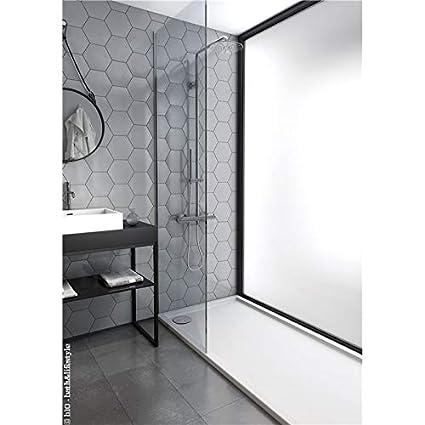 Plato ducha acr/ílico antideslizante liso modelo Nublo Bricodomo 80x100 Blanco con v/álvula incluida