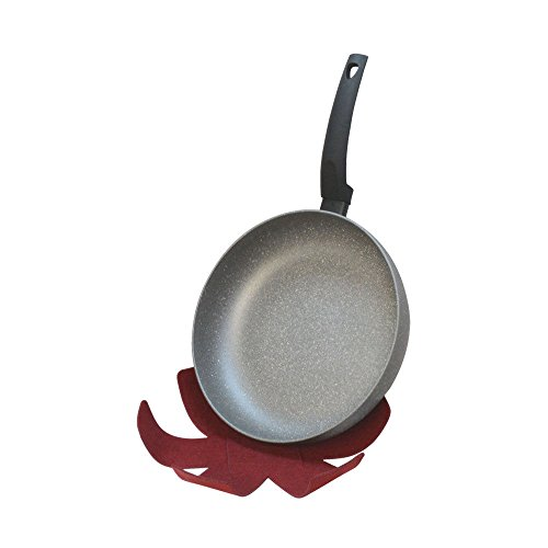 11' Non Stick Skillet (11'' DEEP Lava Stone Fry Frying Pan w/ Felt Pad Non Stick Scratch Resistant Skillet Eco Friendly)
