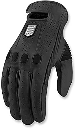 ICON ONE THOUSAND LEATHER GLOVE HOOK AND LOOP WRIST CLOSURE