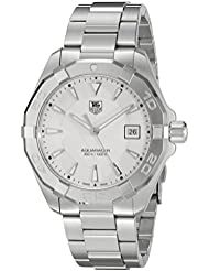 TAG Heuer Mens Aquaracer Quartz Stainless Steel Dress Watch, Color:Silver-Toned (Model: WAY1111.BA0928)