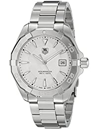 Men's 'Aquaracer' Quartz Stainless Steel Dress Watch, Color:Silver-Toned (Model: WAY1111.BA0928)