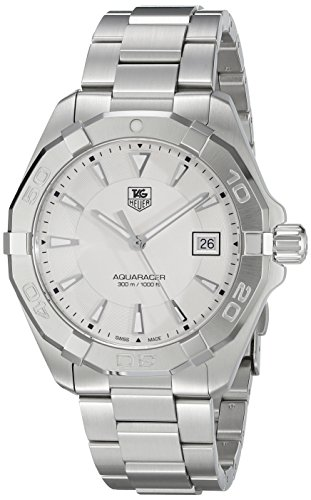 (TAG Heuer Men's 'Aquaracer' Quartz Stainless Steel Dress Watch, Color:Silver-Toned (Model: WAY1111.BA0928))