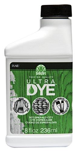 FolkArt Ultra Dye in Assorted Colors (8 Ounce), 5611 Emerald City Green (Water Based Wood Dye)