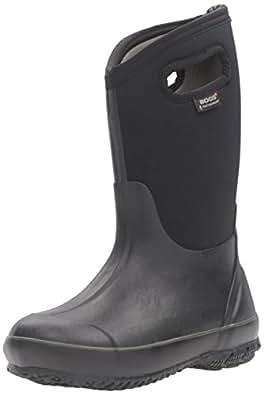 Bogs Kids Classic High Waterproof Insulated Rubber Neoprene Rain Boot, All Black, 1 M US Little Kid