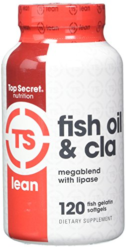 Top Secret Nutrition Fish Oil and CLA Veggie Softgels, 120 Count (Secret Fish)