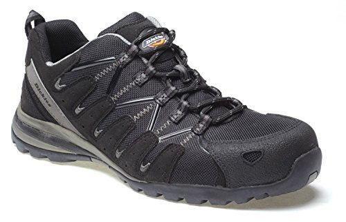 Dickies Tiber Composite Super Safety Trainers Strong Composite Toecap Non-Metallic Anti-Penetration Sole Lightweight Water-Resistant Mesh Uppers & Slip-Resistant Sole FC23530 Black lxlWMp