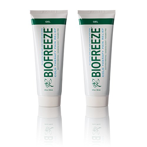 Biofreeze Pain Relief Gel, 4 oz. Tube, Pack of 2 (4 Ounce Tube Biofreeze)