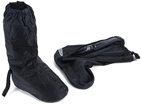 サイクリングシューズカバー 再利用可能な防水レインブーツシューズカバーオートバイバイクシューズカバー付きサイドジッパー付き男性女性 ロードバイクシューズカバー (Size : M)