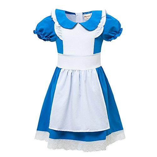 DGFSTM Girl Halloween Cosplay Costume Alice Dress (12 (11-12Years), (Puffy Costumes)