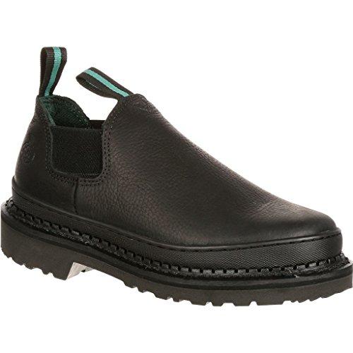Georgia Giant Romeo Work Shoe - Black, Size 10 Wide, Model# (Repairable Goodyear Welt)