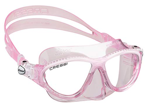Cressi Moon Kids Swim Goggles, No Leaking Anti Fog UV Protection Dive Mask - Kids Ages 3-4-5-6-7 for Swimming and Diving - Made in Italy (Pink White) (Best Swimming Goggles In The World)