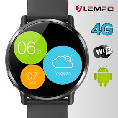 "LEMFO LEMX - Android 7.1 4G LTE 2.03"" Screen Smart Watches,MT6739 1GB+16GB 8MP Camera,Translator,GPS,WiFi,Heart Rate Monitor,Multi Sport Mode Smartwatch Phone for Men Women"