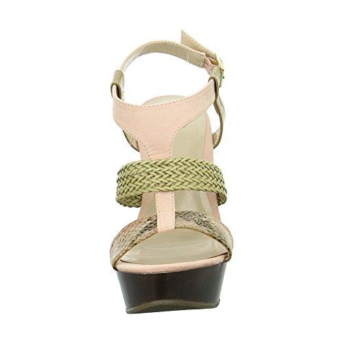 BULLBOXER Damen Sandaletten Mehrfarbig
