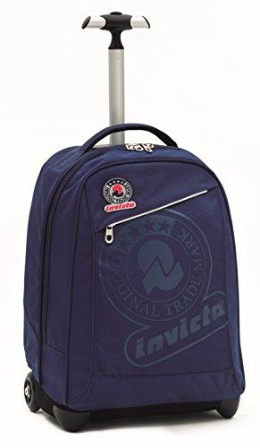 Invicta School 206001617-550 Trolley Zaino, Spallacci a Scomparsa, Poliestere, Blu