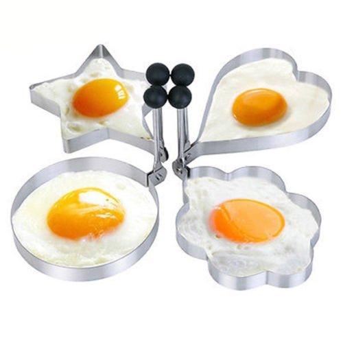 Alytimes Breakfast Pancake/ Egg Mold 4PCS Mold Ring Cooking