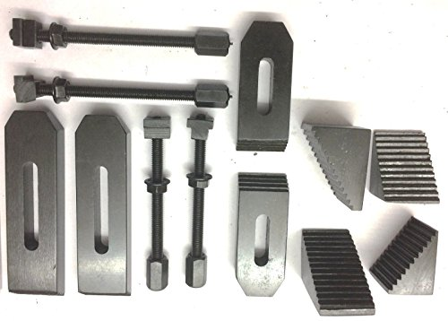 24 Pcs Clamp Kit Set M6 (6 mm) For Rotary Tables, Milling Tables, Face Plates & Vertical Slide by Global Tools (Image #1)