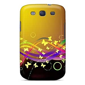 Hladdy Premium Protective Hard Case For Galaxy S3- Nice Design - Design Butterfly