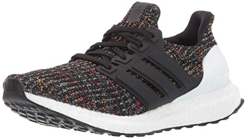 adidas Unisex Ultraboost, Black/White/Active red, 4 M US Big Kid by adidas (Image #1)