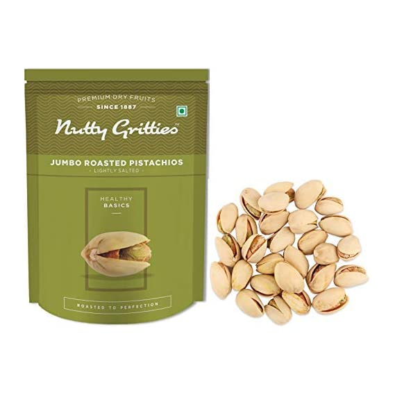 Nutty Gritties California Roasted Pistachios Pista Lightly Salted, 200g