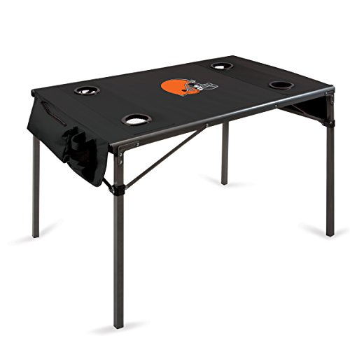 picture of NFL Cleveland Browns Portable Soft Top Travel Table, Black