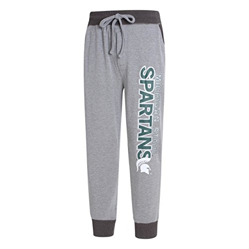 Michigan State Spartans Lounge Pant - Concept Sport Michigan State Spartans Adult Jogger Pants - Gray, Large