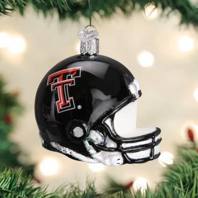 Old World Christmas 63217 Ornament, Texas Tech Helmet