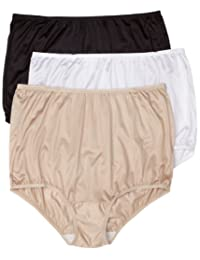 Vanity Fair Women's Perfectly Yours Ravissant Tailored Nylon Brief Panty 3-Pack 15712A