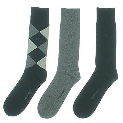 Calvin Klein Men's Diamond Crew Socks- 3 Pack