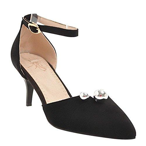 Tuomioistuimessa Naisten Stiletto Tem Musta Kengät Tyylikäs Nilkkalenkki Aw11zq