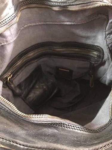 Campomaggi 33 cm main à cuir Nero Sac London Xf7qrX