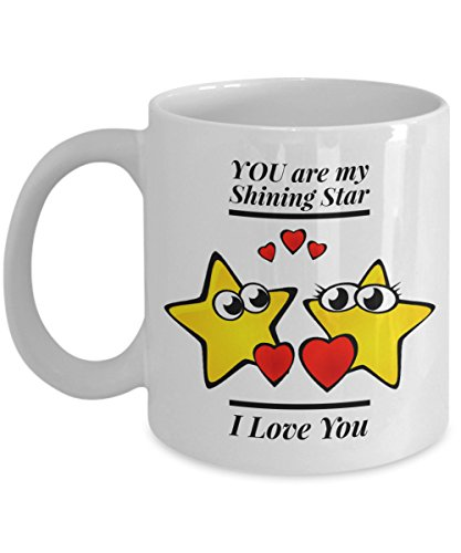 You Are My Shining Star Coffee Mug, Stars Heart Mug, Stars Love Coffee Mugs, A Great Gift For That Special Person, 11oz, 15oz, gift