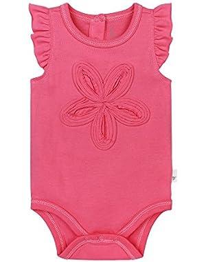 Baby Girls' Organic Flutter Sleeve Bodysuit!