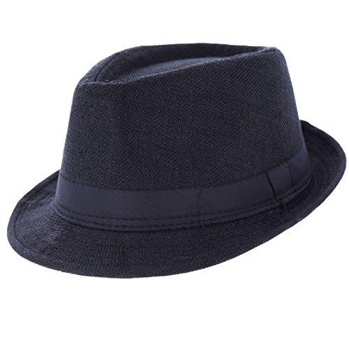 Oramics Fedora Trilby Hut Hat Unisex (Schwarz)