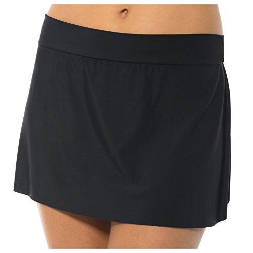 Magicsuit Women's Jersey Tennis Skirt Bottoms Black (Nylon Tennis Jersey)