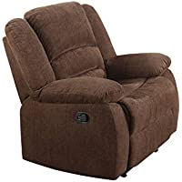 ACME Bailey Dark Brown Chenille Rocker Recliner