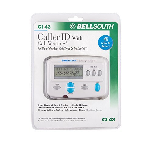 Bellsouth Caller ID with Call Waiting CI 43 (Radio Shack Caller Id)