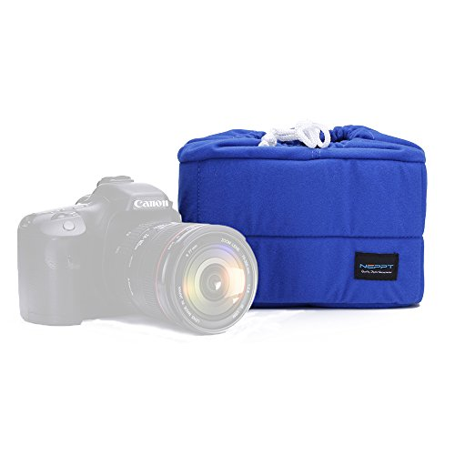 Camera Insert Backpack Bag Inner Case Dslr Divider Foam Padded Interior Lens Protector Pouch Sleeve Liner for Canon Sony Olympus (Blue, L - 24.5x11.5x16centimeter) (Foam Backpack)