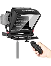 """Neewer X1 Mini Teleprompter, 8"""" Portable Teleprompter for iPad Tablet Smartphone DSLR Cameras with Remote Control, App Compatible with iOS/Android for Online Teaching/Vlogging/Live Streaming"""