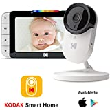 "KODAK Cherish C520 Video Baby Monitor — 5"" HD Screen & Mobile App, Hi-res Camera, Remote Zoom, Two-Way Audio, Night-Vision, Long Range and WiFi"