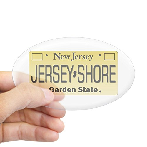 CafePress Jersey Shore Tag Giftware Sticker Oval Bumper Sticker, Euro Oval Car Decal ()