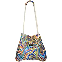 Bolsa Saco Neoprene Cordas Abstract Colors