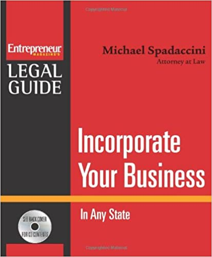 Book Incorporate Your Business: In Any State (Entrepreneur Magazine's Legal Guide)