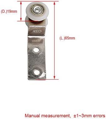 BQLZR - Herraje de 6,50 x 1,90 cm con rodamientos de metal con dos ruedas de plástico para puertas correderas o armarios: Amazon.es: Bricolaje y herramientas