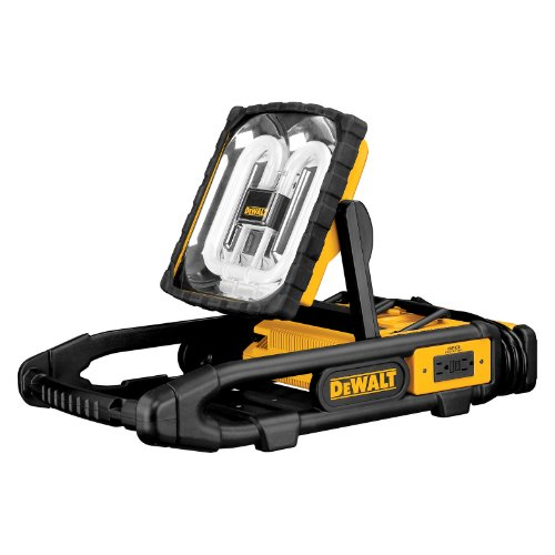 DEWALT DC022 Combination 38-Watt Fluorescent Worklight and 7.2-Volt to 18-Volt Dual-Port Pod-Style Battery Charger with GFCI Protection