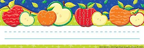 Eureka Color My World Apples Teacher Supplies Self-Adhesive Name Plates, 36 pcs, 9.5'' x -