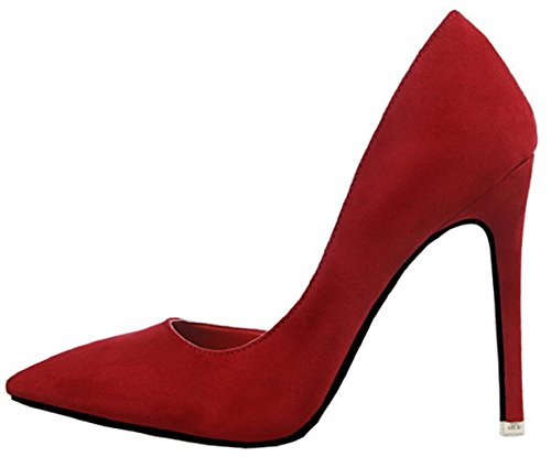 Pointed HooH Femmes Rouge Toe Escarpins Stiletto 8 D'Orsay 952 PPE4BHq